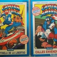 Cómics: GRANDES SAGAS MARVEL CAPITAN AMERICA CENTINELA DE LA LIBERTAD Y CALLES ENVENENADAS GRUENWALD /LI. Lote 237500395