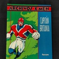 Comics: ARCHIVOS X-MEN - CAPITAN BRITANIA - FORUM -. Lote 238721810