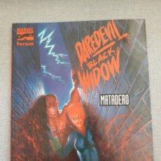 Comics : DAREDEVIL BLACK WIDOW. MATADERO. NOVELAS GRÁFICAS MARVEL NUM 19. STARLIN.. Lote 239412105