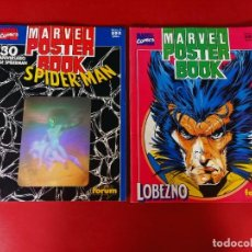 Cómics: MARVEL POSTER BOOK - SPIDERMAN Y LOBEZNO -. Lote 239751370