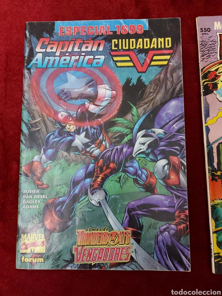 Cómics: CAPITÁN AMÉRICA-MOTORISTA FANTASMA-CIUDADANO V- HEROES REBORN-MIEDO-COMIC FORUM-MARVEL-ESPECIAL 1999 - Foto 3 - 240418685