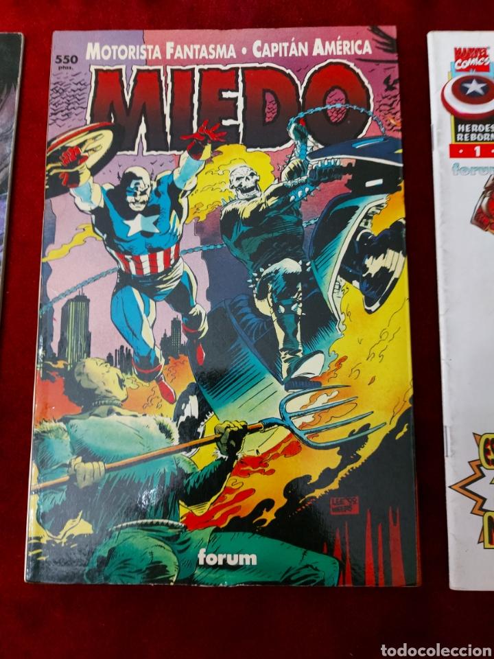 Cómics: CAPITÁN AMÉRICA-MOTORISTA FANTASMA-CIUDADANO V- HEROES REBORN-MIEDO-COMIC FORUM-MARVEL-ESPECIAL 1999 - Foto 5 - 240418685