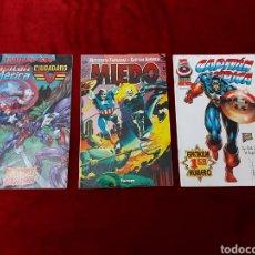 Cómics: CAPITÁN AMÉRICA-MOTORISTA FANTASMA-CIUDADANO V- HEROES REBORN-MIEDO-COMIC FORUM-MARVEL-ESPECIAL 1999. Lote 240418685