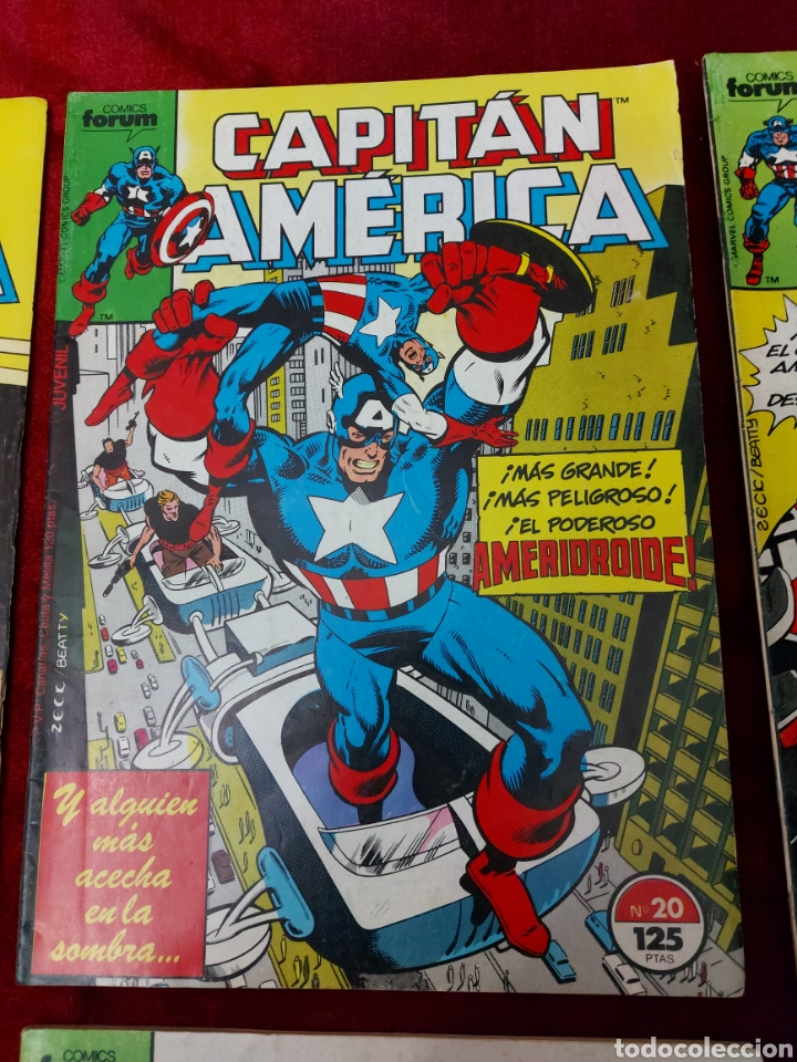 Cómics: CAPITÁN AMÉRICA LOTE DE 8 COMIC, NUMEROS:17,20,21,22,23,24,25 Y 36 ,COMICS FORUM MARVEL/SUPER HEROES - Foto 3 - 240435100