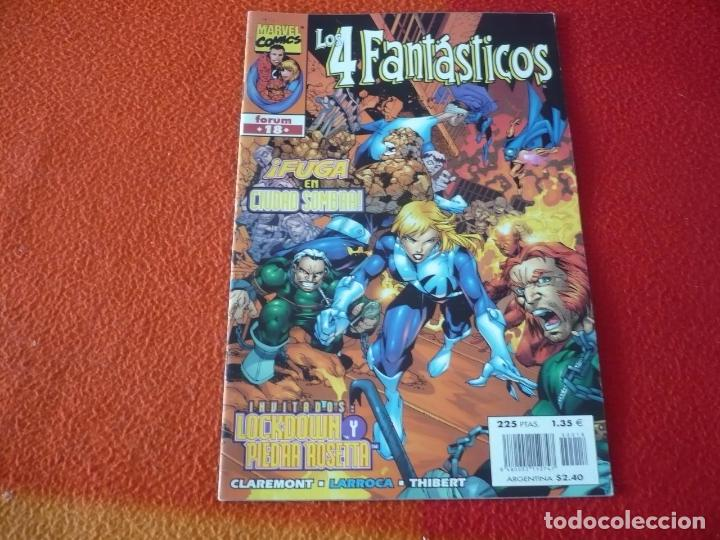 LOS 4 FANTASTICOS VOL. 3 Nº 18 ( LOBDELL LARROCA ) ¡BUEN ESTADO! MARVEL FORUM (Tebeos y Comics - Forum - 4 Fantásticos)