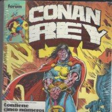 Cómics: CONAN REY - RETAPADO - NºS 51 AL 55 - PERFECTO ESTADO. Lote 262211650
