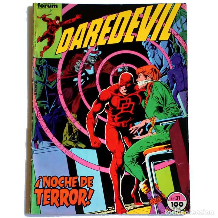 DAREDEVIL VOL 1 Nº 31 / MARVEL / FORUM 1985 (DENNY O'NEIL & WILLIAM JOHNSON) PROCEDE DE RETAPADO (Tebeos y Comics - Forum - Daredevil)