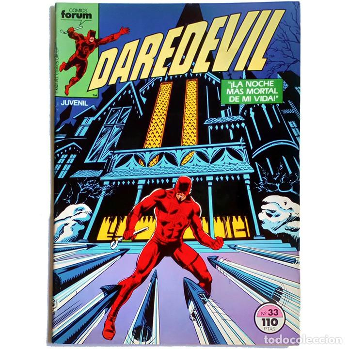 DAREDEVIL VOL 1 Nº 33 / MARVEL / FORUM 1985 (HARLAN ELLISON & DAVID MAZZUCCHELLI) (Tebeos y Comics - Forum - Daredevil)