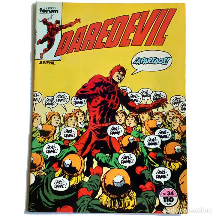 DAREDEVIL VOL 1 Nº 34 / MARVEL / FORUM 1985 (ARTHUR BYRON COVER & DAVID MAZZUCCHELLI) (Tebeos y Comics - Forum - Daredevil)