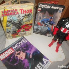 Cómics: LOTE 'TWO IN ONE' C. AMERICA +THOR, MARVEL CÓMICS, FORUM, FASCICULO HELA Y FIGURA 1:6, GANGA. Lote 242472330
