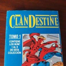 Cómics: CLANDESTINE RETAPADO SERIE COMPLETA Nº 1 AL 9 ALAN DAVIS. Lote 243002510