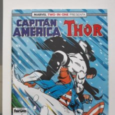 Cómics: MARVEL TWO-IN-ONE CAPITAN AMERICA THOR VOL 1 Nº 63 FORUM. Lote 243203225