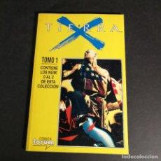 Cómics: COMICS FORUM MARVEL COMICS TIERRA X TOMO 1 CONTIENE LOS NÚMEROS 0, 1, 2 EN UN TOMO RETAPADO. Lote 243344010