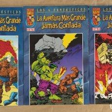 Cómics: LOS 4 FANTÁSTICOS. LA AVENTURA MÁS GRANDE JAMÁS CONTADA - FORUM / COLECCIÓN COMPLETA. Lote 243467365