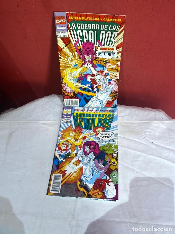 LA GUERRA DE LOS HERALDOS Nº 1 AL 3 COLECCIÓN COMPLETA (FORUM ) ESTELA PLATEADA GALACTUS (Tebeos y Comics - Forum - Otros Forum)