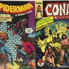 Cómics: PACK DE DOS COMICS FORUM JUVENIL – SPIDERMAN Y CONAN.. Lote 243762455