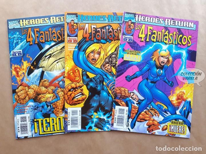 LOS 4 FANTÁSTICOS - HEROES RETURN 2 3 Y 4 - ALAN DAVIS - FORUM (Tebeos y Comics - Forum - 4 Fantásticos)