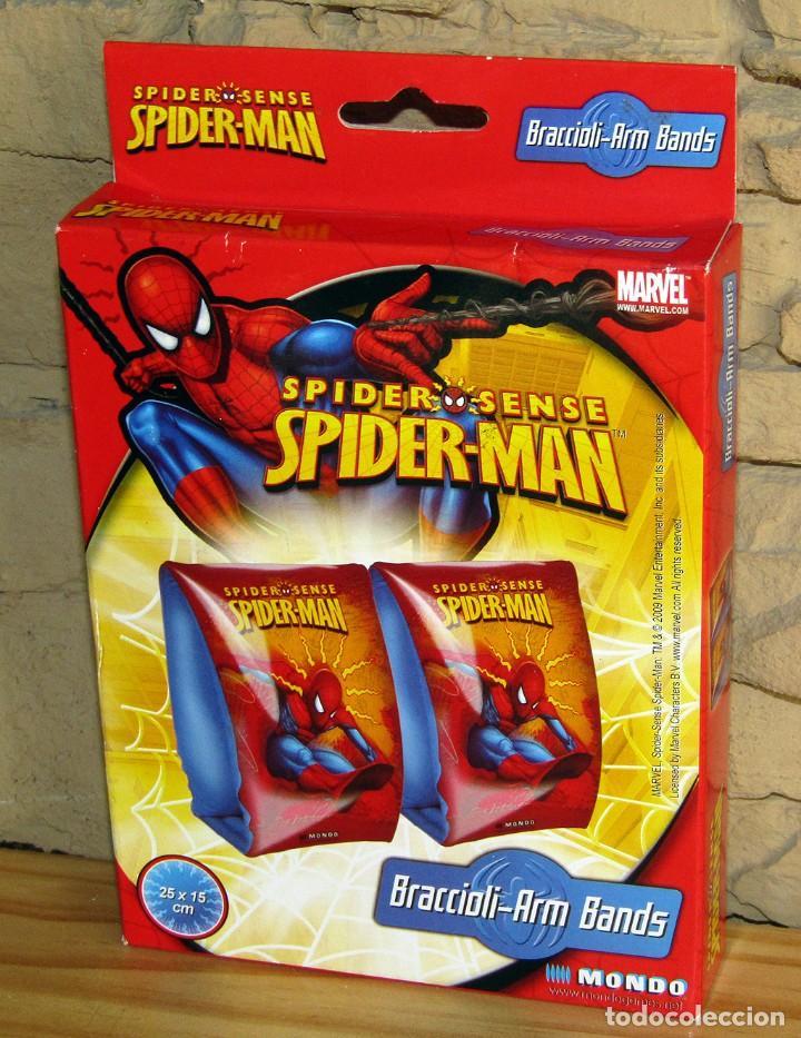 SPIDERMAN - MARVEL - MANGUITOS FLOTADOR - NUEVO Y EN SU CAJA ORIGINAL - 20X15CM (Tebeos y Comics - Forum - Spiderman)