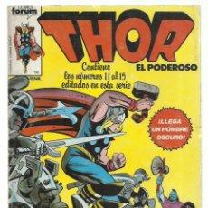 Cómics: THOR, RETAPADO 11 AL 15, 1983, FORUM, BUEN ESTADO. Lote 243903230