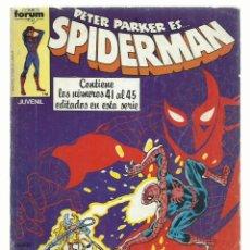 Cómics: SPIDERMAN, RETAPADO 41 AL 45, 1983, FORUM, BUEN ESTADO. Lote 243904615