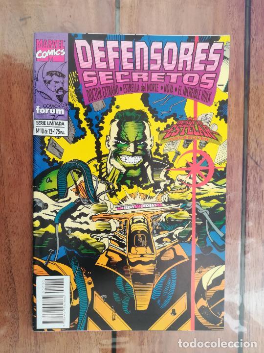Cómics: DEFENSORES SECRETOS. LOTE DEL 1 AL 10. FORUM - Foto 11 - 243928005