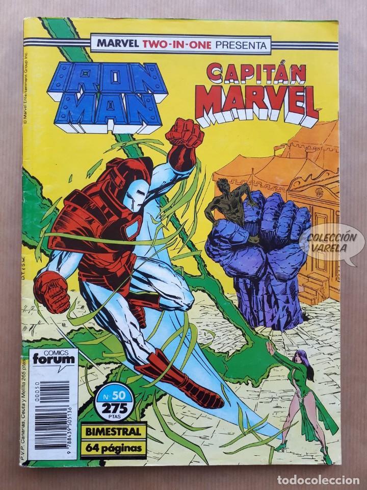 MARVEL TWO-IN-ONE - IRON MAN CAPITAN MARVEL Nº 50 - FORUM (Tebeos y Comics - Forum - Iron Man)