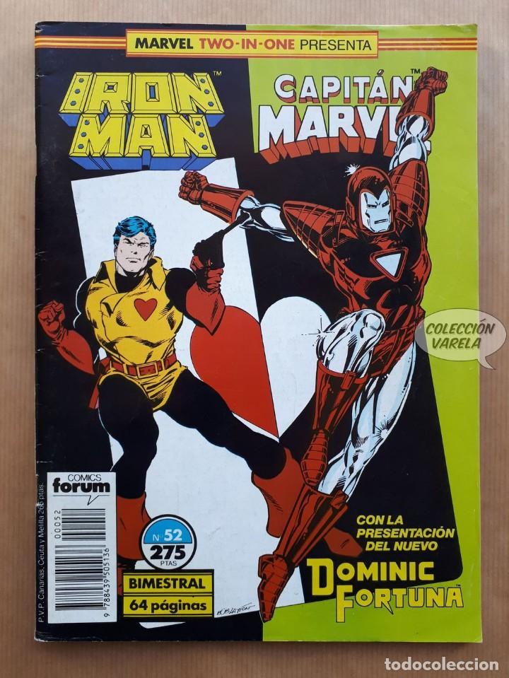 MARVEL TWO-IN-ONE - IRON MAN CAPITAN MARVEL Nº 52 - FORUM (Tebeos y Comics - Forum - Iron Man)