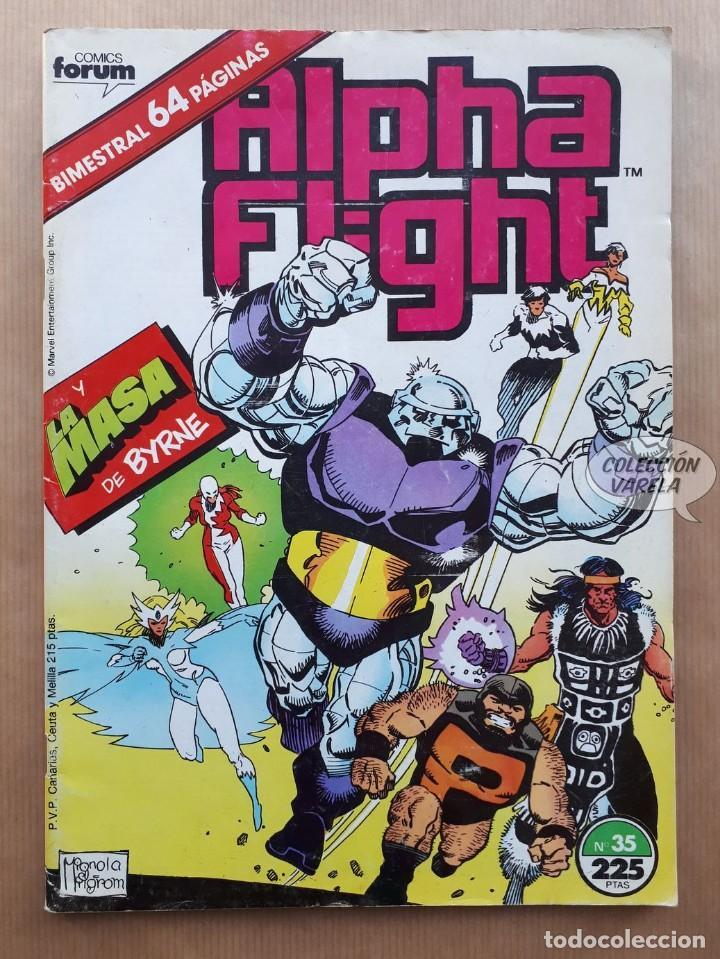 ALPHA FLIGHT VOL 1 - Nº 35 - LA MASA DE BYRNE - BIMESTRAL FORUM (Tebeos y Comics - Forum - Alpha Flight)