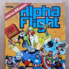 Cómics: ALPHA FLIGHT VOL 1 - Nº 37 - LA MASA - BIMESTRAL FORUM - PORTAFOLIO. Lote 243988805