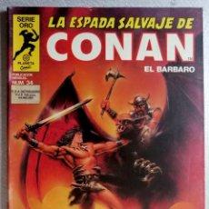 Cómics: LA ESPADA SALVAJE DE CONAN EL BARBARO Nº 34 - SERIE ORO - 1ª EDICIÓN - FORUM 1982. Lote 244738165