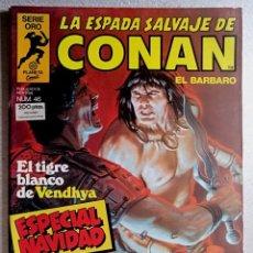 Cómics: LA ESPADA SALVAJE DE CONAN EL BARBARO Nº 46 - ESPECIAL NAVIDAD - SERIE ORO - 1ª EDICIÓN - FORUM. Lote 244739170