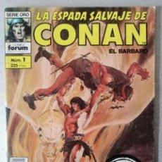 Cómics: LA ESPADA SALVAJE DE CONAN EL BARBARO Nº 1 - 2ª EDICIÓN - FORUM 1989. Lote 244742595