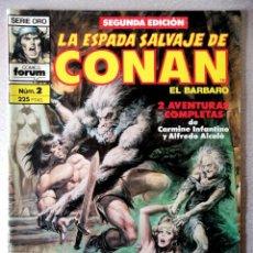 Cómics: LA ESPADA SALVAJE DE CONAN EL BARBARO Nº 2 - 2ª EDICIÓN - FORUM 1989. Lote 244743710