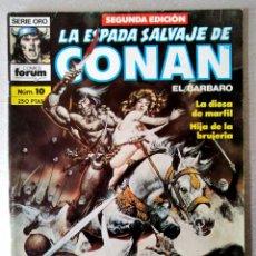 Cómics: LA ESPADA SALVAJE DE CONAN EL BARBARO Nº 10 - 2ª EDICIÓN - FORUM 1990. Lote 244744645