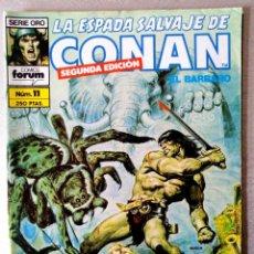 Cómics: LA ESPADA SALVAJE DE CONAN EL BARBARO Nº 11 - 2ª EDICIÓN - FORUM 1990. Lote 244745010