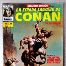 Cómics: LA ESPADA SALVAJE DE CONAN EL BARBARO Nº 12 - 2ª EDICIÓN - FORUM 1990 ''EXCELENTE ESTADO''. Lote 244745250