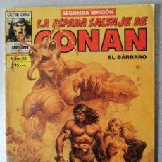 Cómics: LA ESPADA SALVAJE DE CONAN EL BARBARO Nº 33 - 2ª EDICIÓN - FORUM 1990. Lote 244746350