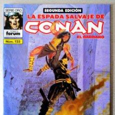 Cómics: LA ESPADA SALVAJE DE CONAN EL BARBARO Nº 125 - 2ª EDICIÓN - FORUM 2004 ''EXCELENTE ESTADO''. Lote 244754565