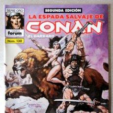 Cómics: LA ESPADA SALVAJE DE CONAN EL BARBARO Nº 130 - 2ª EDICIÓN - FORUM 2004 ''EXCELENTE ESTADO''. Lote 244759510