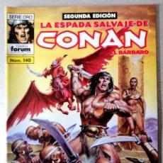 Cómics: LA ESPADA SALVAJE DE CONAN EL BARBARO Nº 140 - 2ª EDICIÓN - FORUM 2005 ''EXCELENTE ESTADO''. Lote 244760620