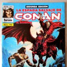 Cómics: LA ESPADA SALVAJE DE CONAN EL BARBARO Nº 142 - 2ª EDICIÓN - FORUM 2005 ''EXCELENTE ESTADO''. Lote 244760885