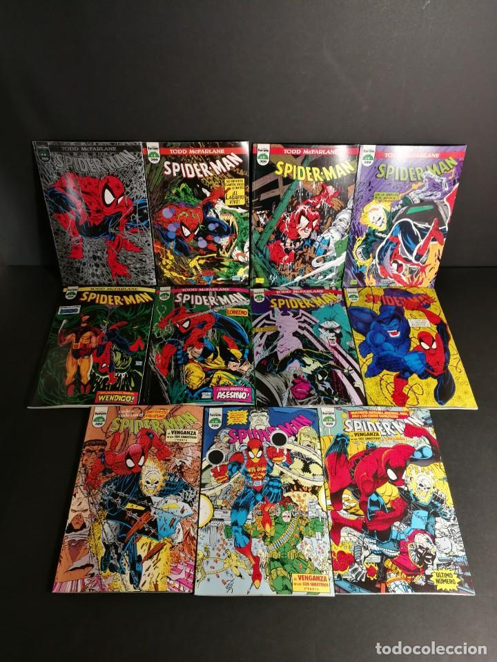 MARVEL COMICS FORUM SPIDER-MAN TODD MCFARLANE COMPLETA 1 AL 12 A FALTSA DEL # 9 SPIDERMAN ORIGINAL (Tebeos y Comics - Forum - Spiderman)