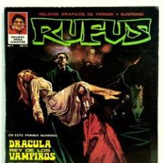 Cómics: RUFUS Nº 1 - RELATOS DE TERROR Y SUSPENSE - IBERO MUNDIAL - JUNIO 1973 - BUEN ESTADO. Lote 245064755