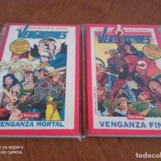 Cómics: LOS VENGADORES: VENGANZA MORTAL + VENGANZA FINAL - 2 LIBROS GRANDES SAGAS MARVEL. Lote 245163140