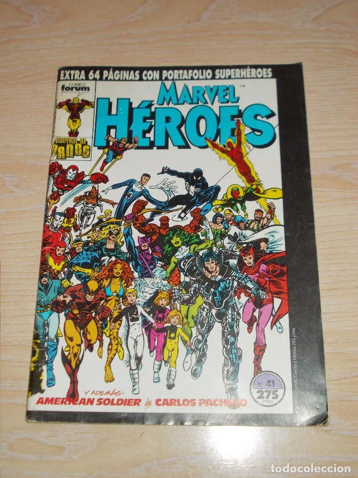 MARVEL HEROES Nº 41. CONTROL DE DAÑOS / AMERICAN SOLDIER EXTRA 64 PAGÍNAS. FORUM (Tebeos y Comics - Forum - Otros Forum)