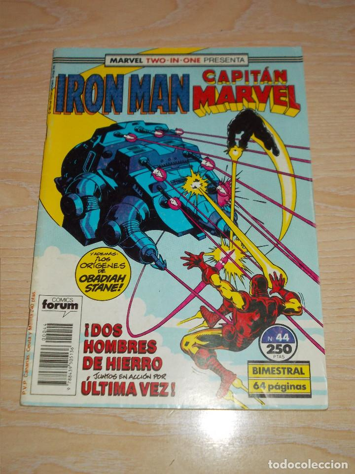 TWO-IN-ONE. IRON MAN & CAPITÁN MARVEL Nº 44. FORUM (Tebeos y Comics - Forum - Iron Man)