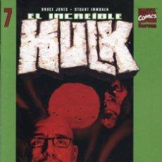 Cómics: EL INCREIBLE HULK VOLUMEN 5 NÚMERO 7 (BRUCE JONES Y STUART IMMONEN) FORUM. Lote 245566735