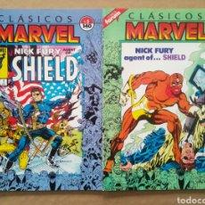 Cómics: LOTE CLÁSICOS MARVEL N°5-7 (FORUM, 1988-1989). NICK FURIA AGENTE DE SHIELD. POR STERANKO.. Lote 245722120