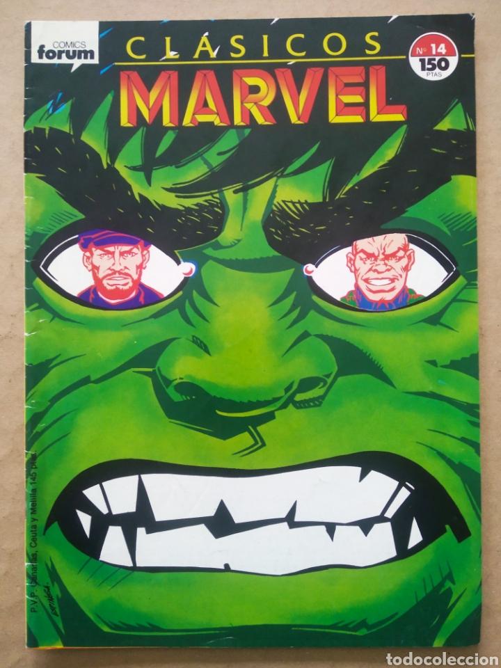 CLÁSICOS MARVEL N°14 (FORUM, 1989). LA MASA/HULK. POR THOMAS Y TRIMPE. 36 PÁGINAS A COLOR. (Tebeos y Comics - Forum - Hulk)