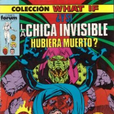 Cómics: COMIC WHAT IF, Nº 5: ¿Y SI LA CHICA INVISIBLE HUBIERA MUERTO? - FORUM. Lote 245725105